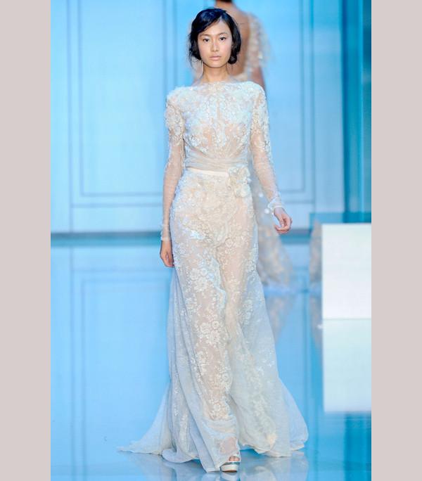 Elie saab designs living life fully for Elie saab blush wedding dress